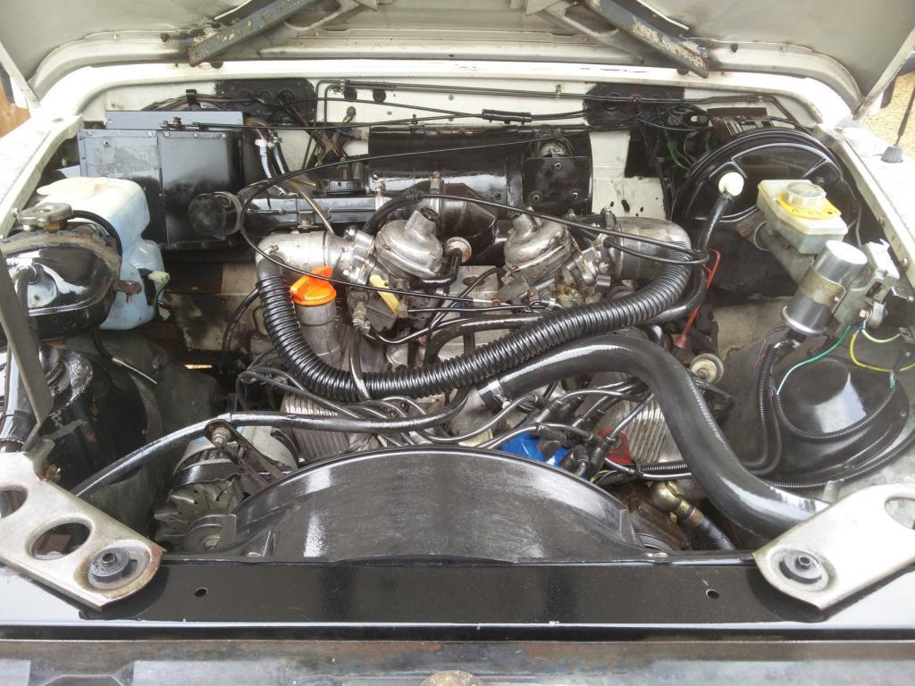 Click image for larger version  Name:1986 LR LHD Def 110 3.5 V8 White engine front.jpg Views:236 Size:133.8 KB ID:193297
