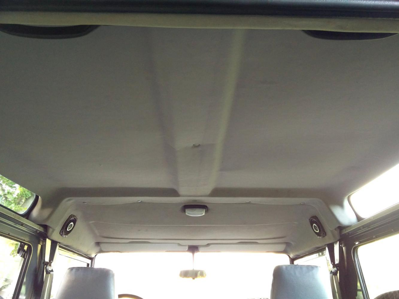 Click image for larger version  Name:1992 LR LHD Defender 90 200 Tdi Grey B interior headliner.jpg Views:109 Size:86.1 KB ID:320537