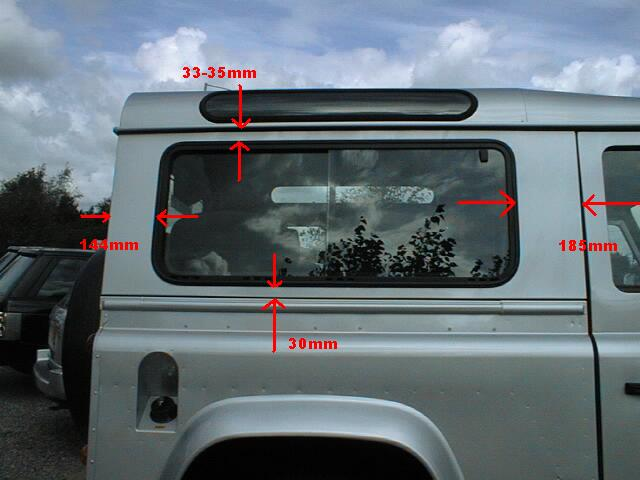Click image for larger version  Name:90 side window dimensions.jpg Views:1606 Size:38.3 KB ID:19781