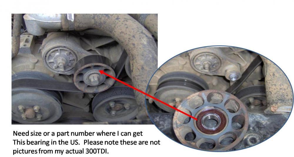 idler pulley bearing 300TDI - Defender Source