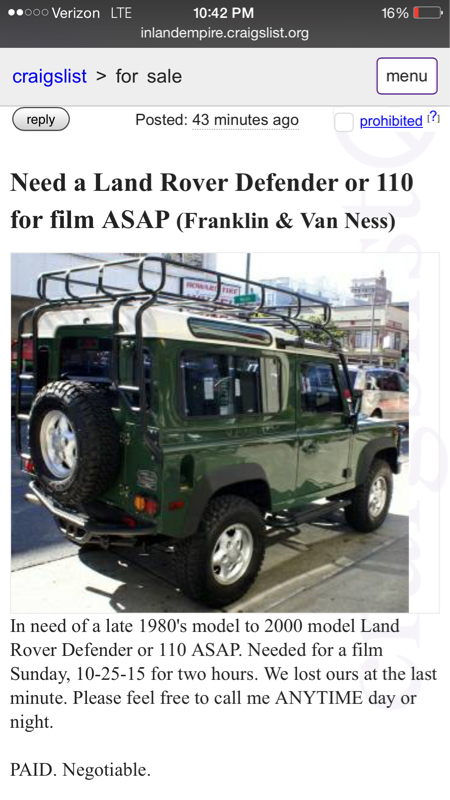 Land Rover Discovery 2 For Sale On Craigslist