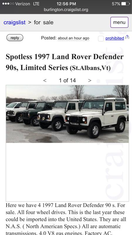 Land Rover Series 2 Craigslist
