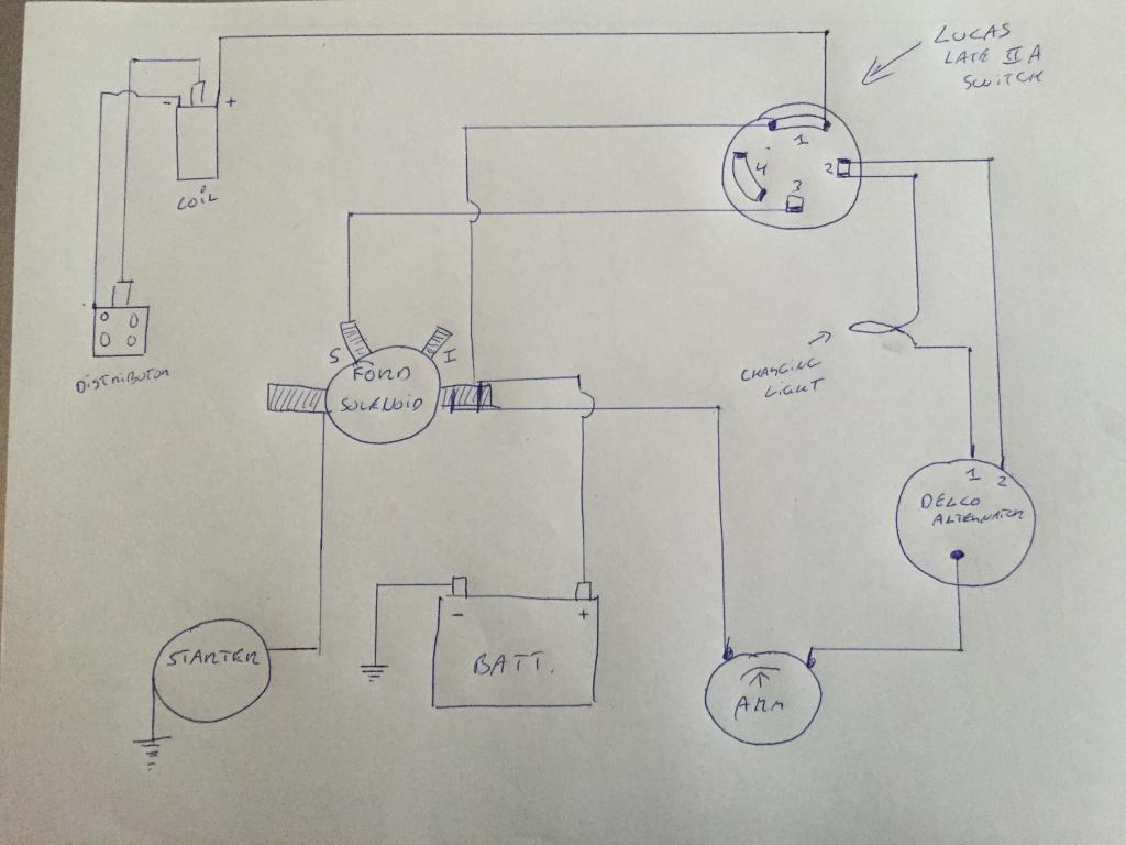 Delco Alternator W Lucas Ignition Switch And Ammeter Schematic Defender Source Forum