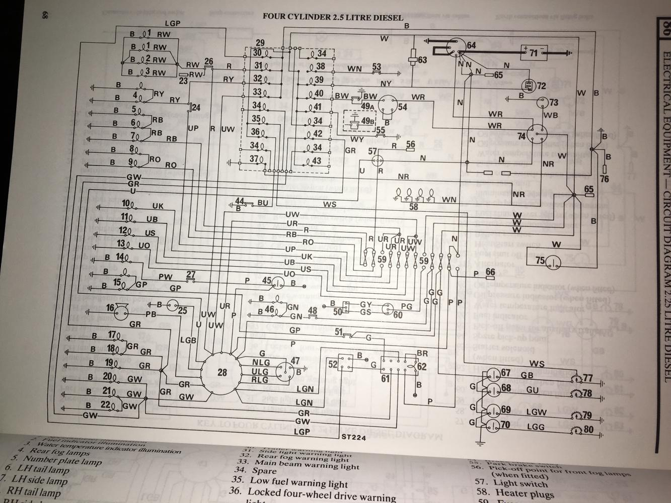 land rover wiring diagram key early row wiring diagram  defender source forum  early row wiring diagram  defender