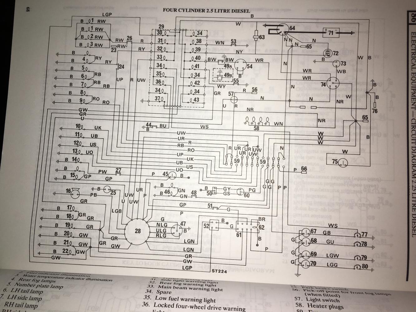 defender 90 wiring diagrams early row wiring diagram  defender source forum  early row wiring diagram  defender