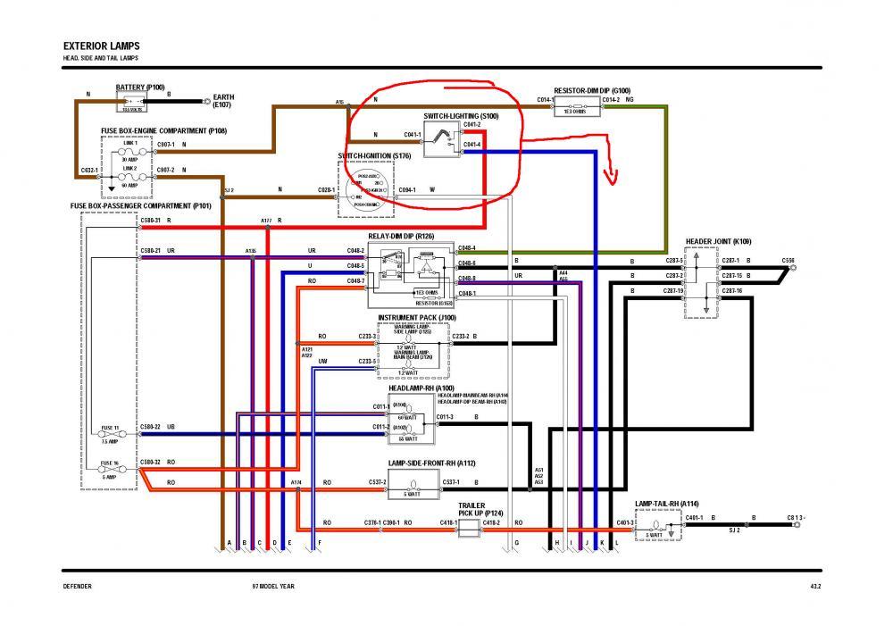 Defender 90 Headlight Wiring Diagram