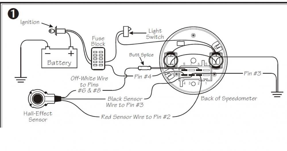 Pin out / Wiring diagram for 1997 LCD-style Speedo