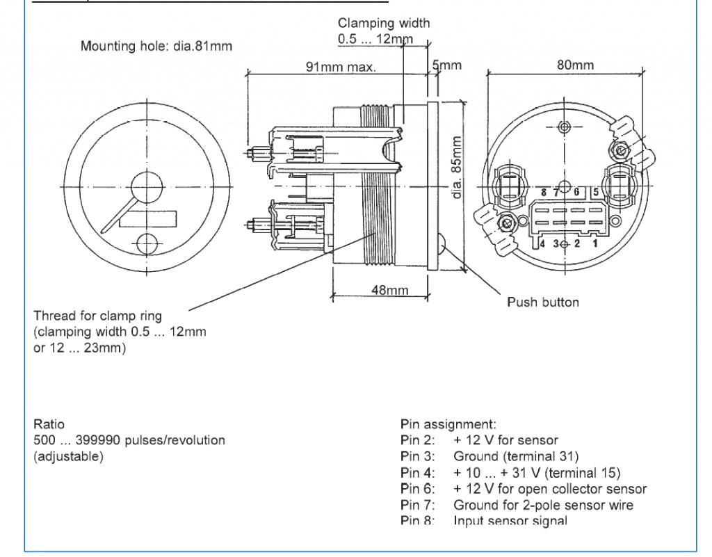 Vdo Digital Sdometer Wiring Diagram
