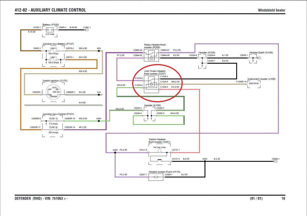 heated windscreen / windshield timer | defender source forum land rover heated windscreen wiring diagram  defender source forum