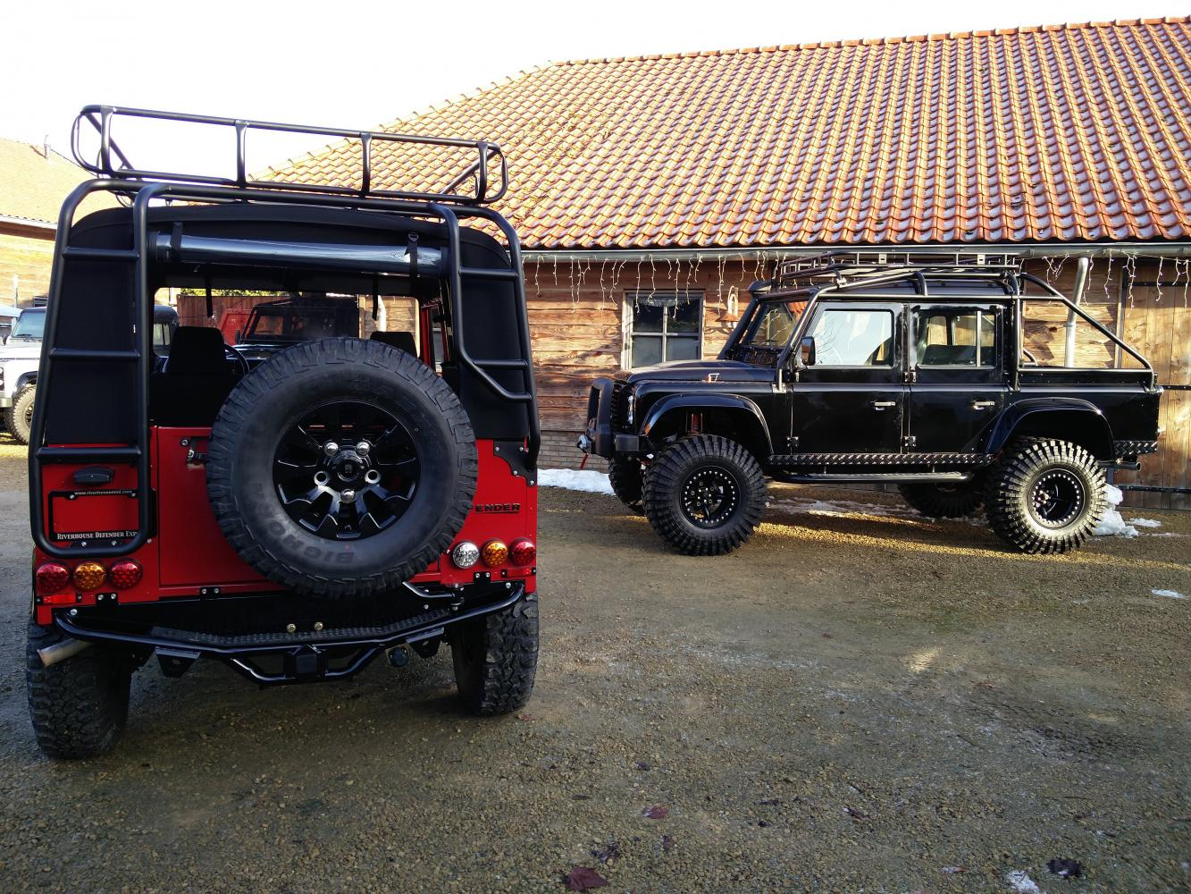 Click image for larger version  Name:Winter 2017 2 x defender red soft top and Spectre.jpg Views:82 Size:299.4 KB ID:336817